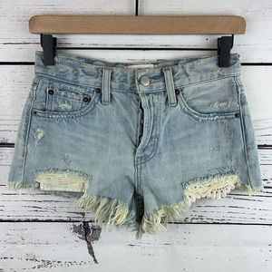 Free People We the Free Daisy Chain Frayed Shorts